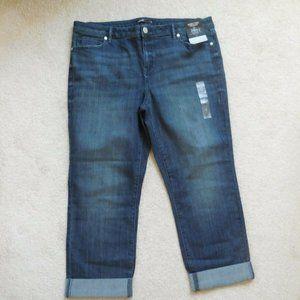 Vera Wang Cuffed Slimming Stretch Capri Jeans 16